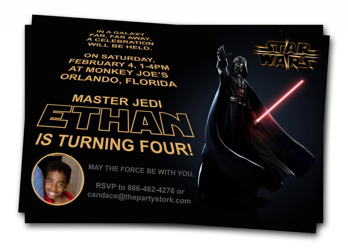 Star Wars Birthday Party Printable Invitations