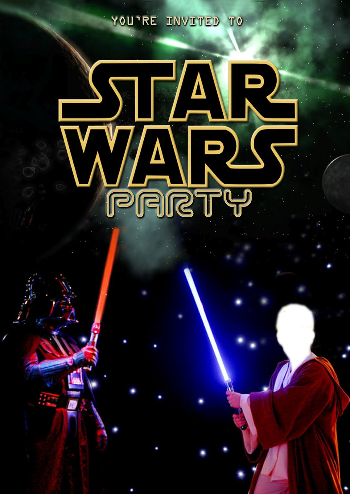 Star Wars Party Invitations Free