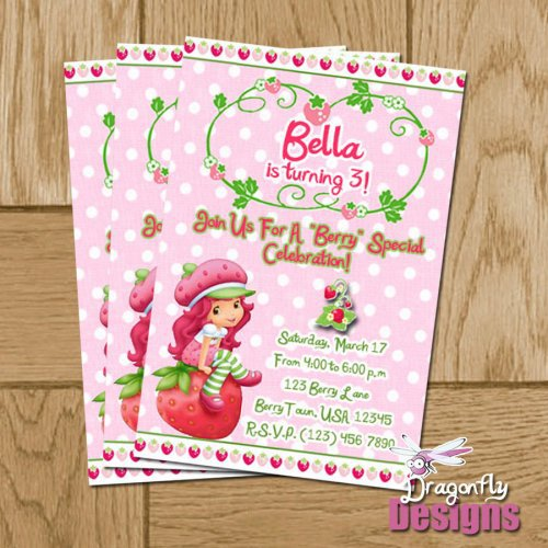 Strawberry Shortcake Free Printable Birthday Invitations 2016