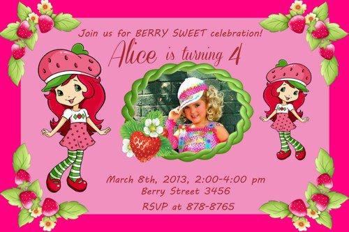 Strawberry Shortcake Printable Birthday Invitations 2015