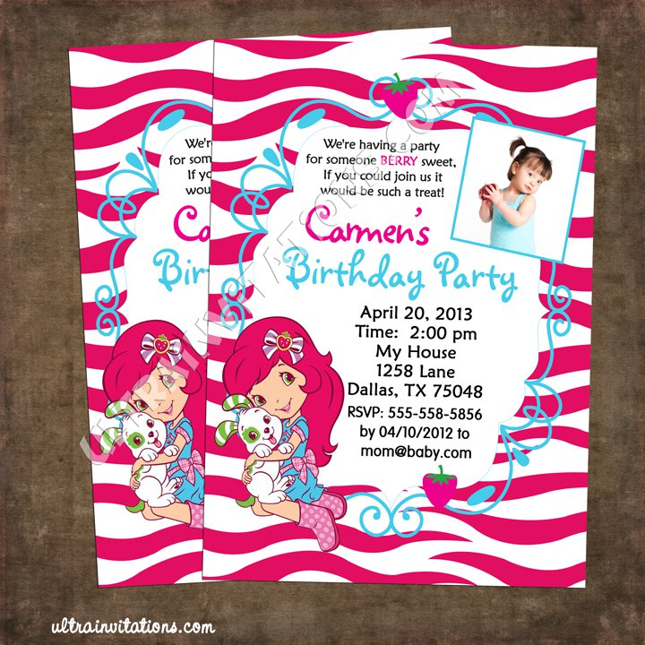 Strawberry Shortcake Printable Invitations Free 2015