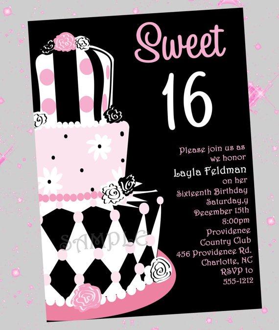 Sweet 16 Free Printable Invitations 2015