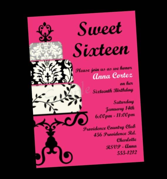 Sweet 16 Free Printable Invitations 2016