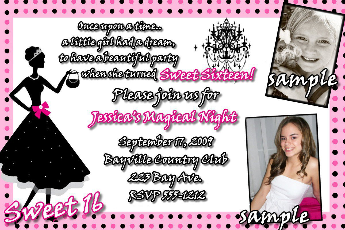 Sweet 16 Free Printable Party Invitations 2015
