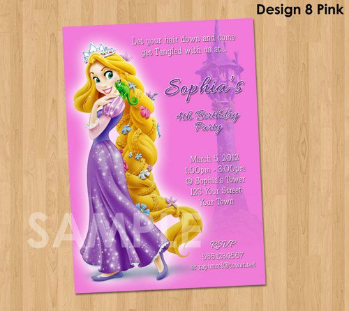 Tangled Birthday Party Invitations Printable 2016