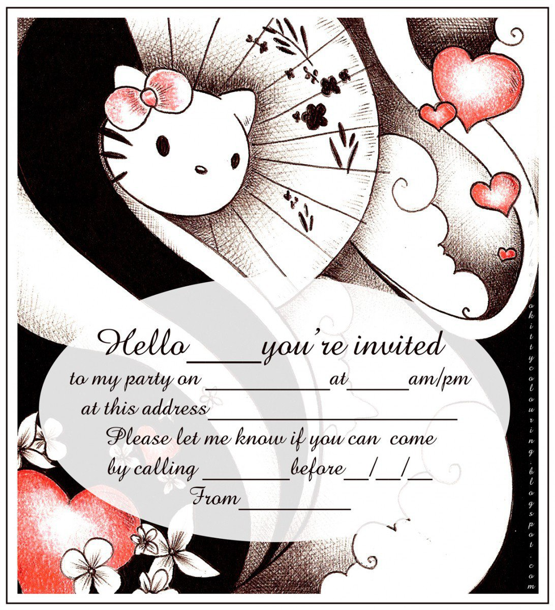Tangled Birthday Party Printable Invitations 2015