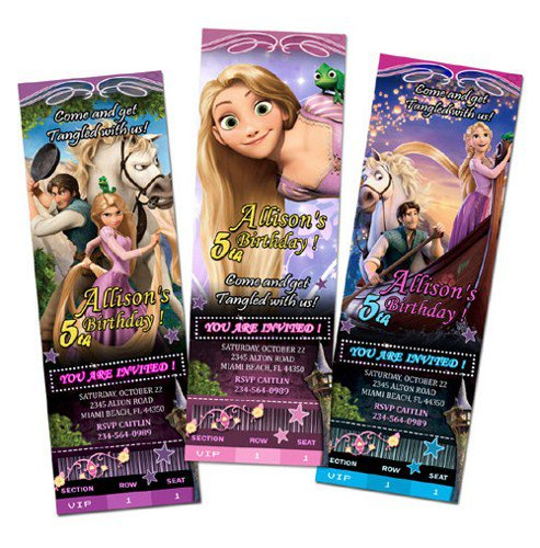 Tangled Birthday Party Printable Invitations 2016