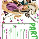 Tangled Birthday Party Printable Invitations 2018