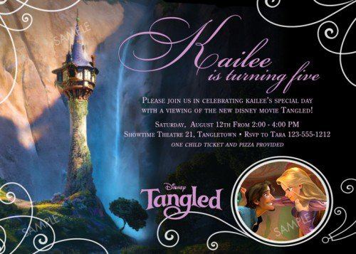 Tangled Printable Invitations 2018