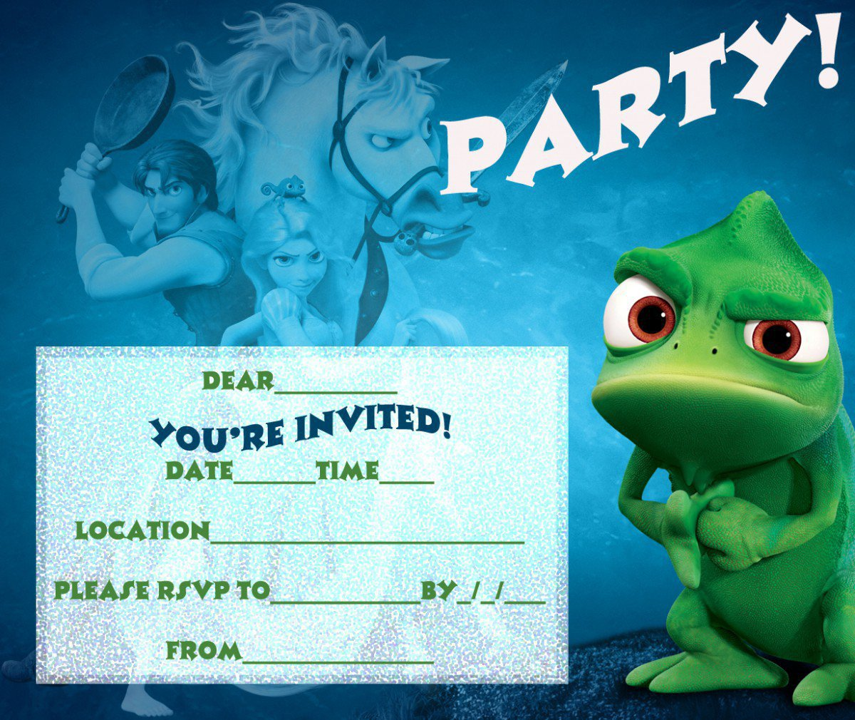 Tangled Printable Invitations