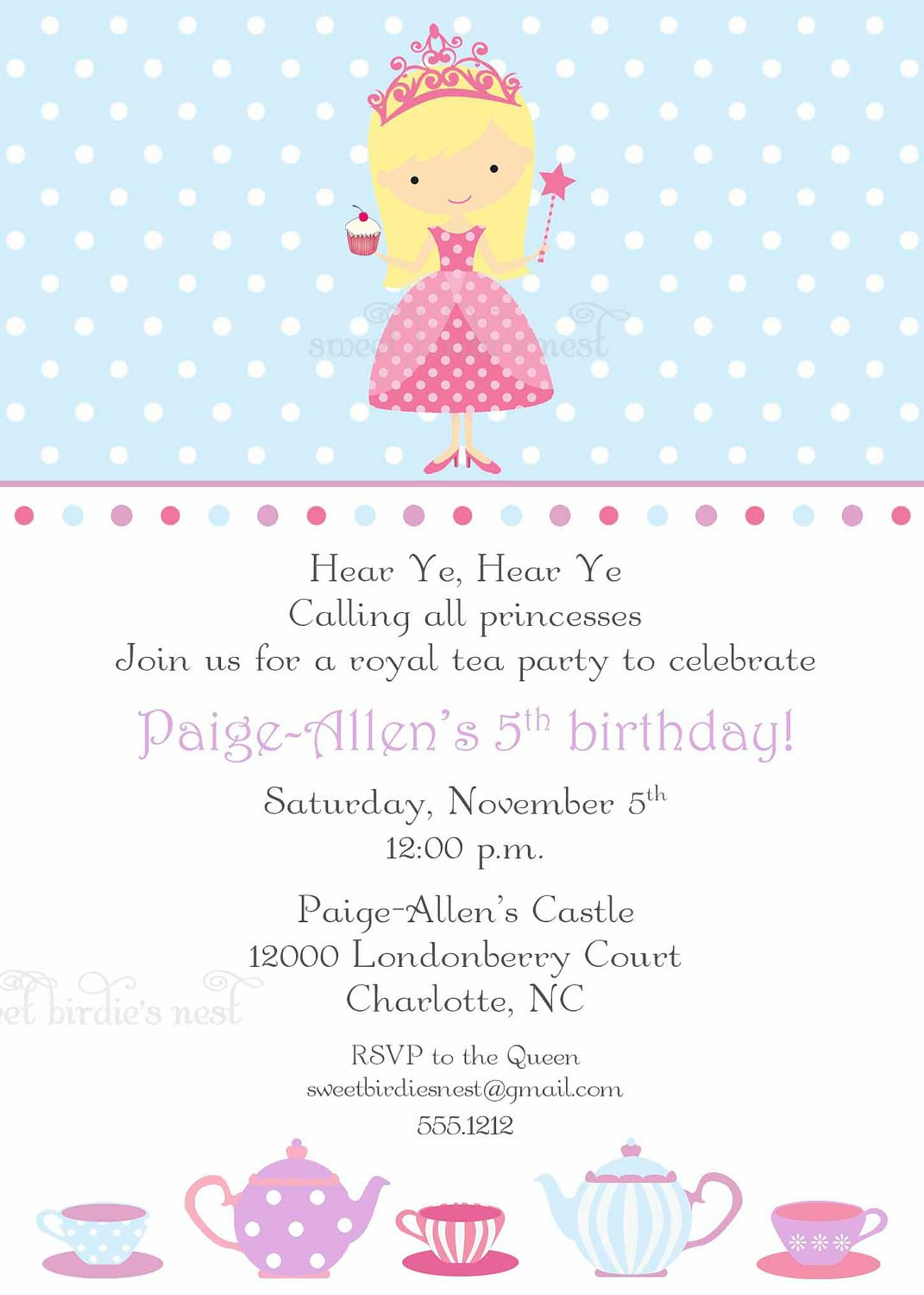 Tea Party Invitations Free Online