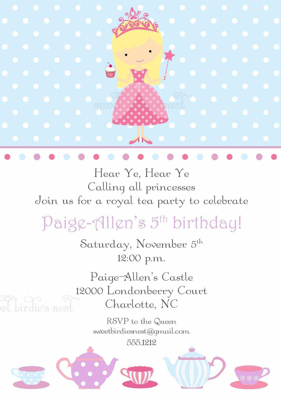 Tea Party Invitations Free Online