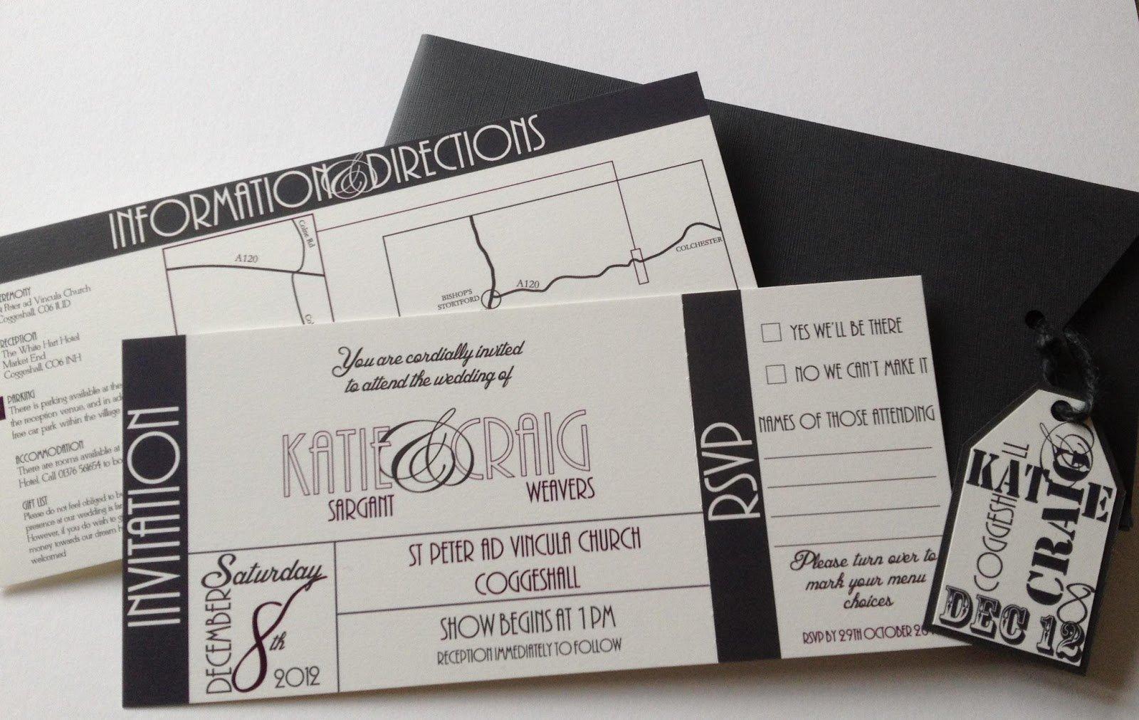 Ticket Printing Invitations