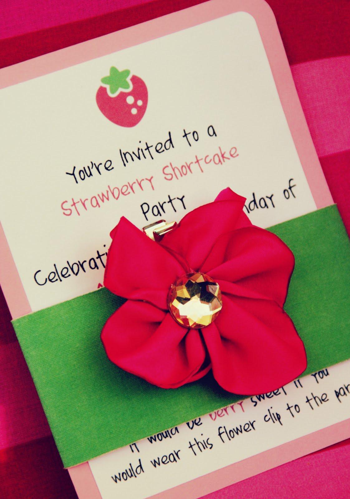 Tiny Prints Strawberry Shortcake Invitations