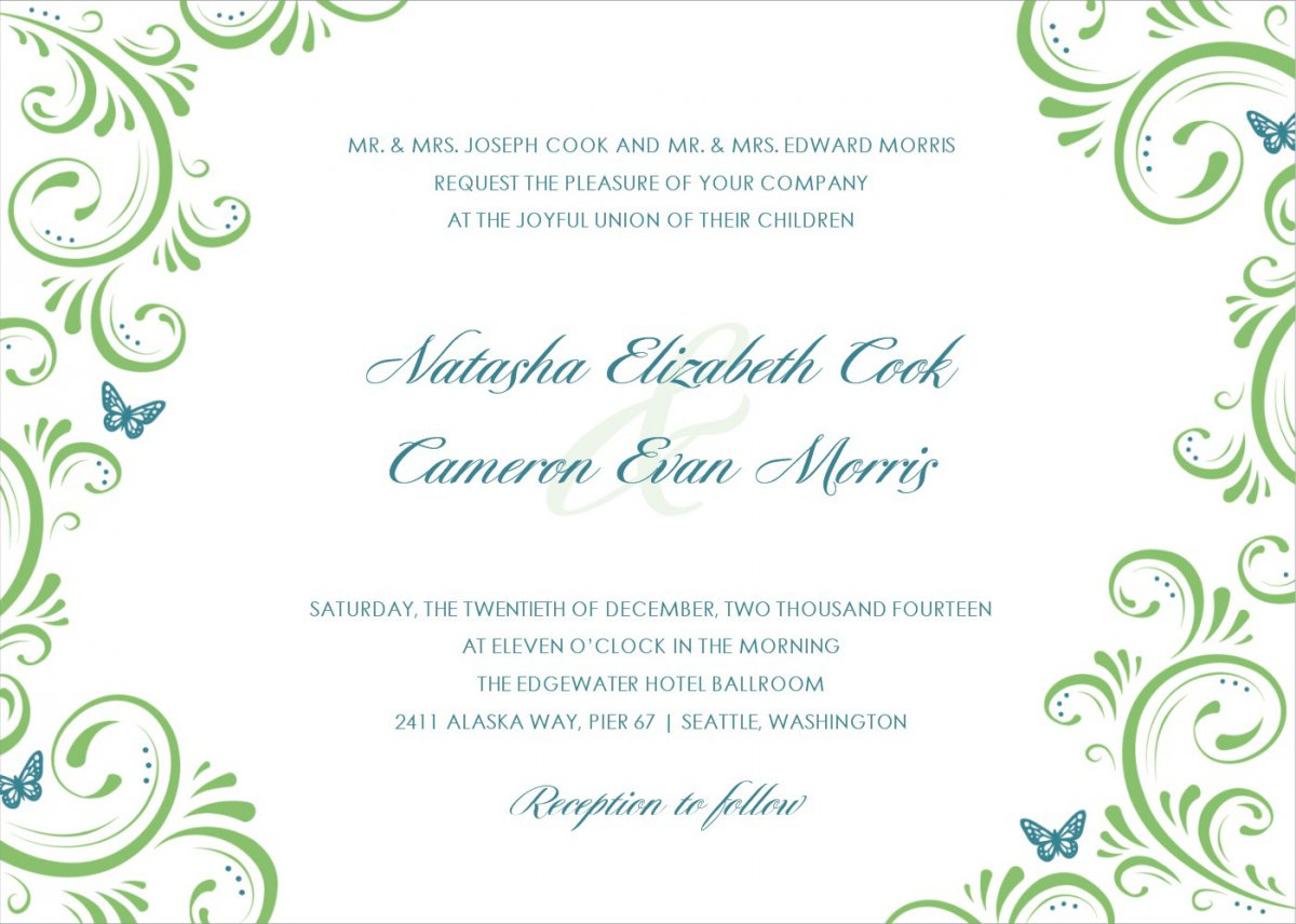 Wedding Invitation Card Template Psd Free Download
