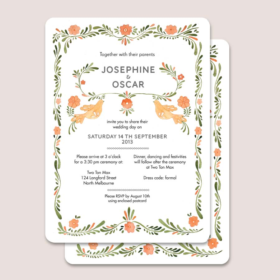 Wedding Invitations Printable Paper