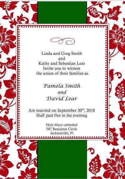Wedding Invitations Printable Templates Free 2018