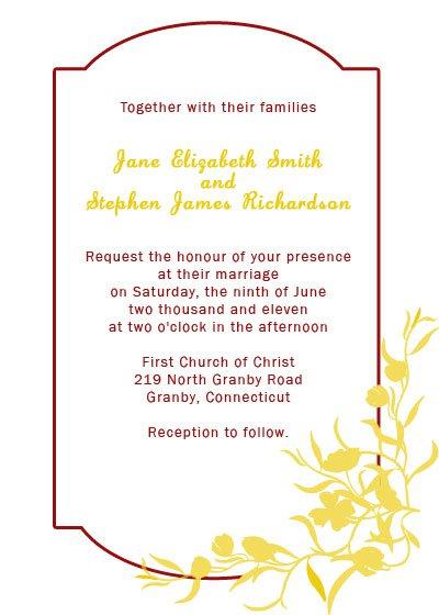 Wedding Invitations Printable Templates Free