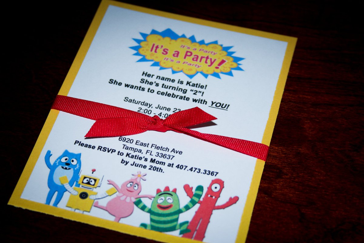 Yo Gabba Gabba Birthday Invitation Wording