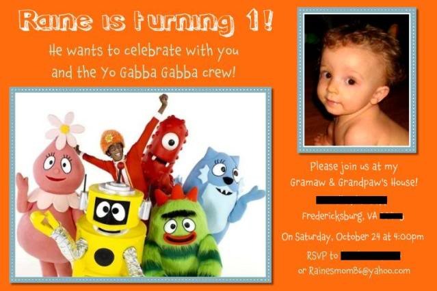 Yo Gabba Gabba Printable Invitations 2016