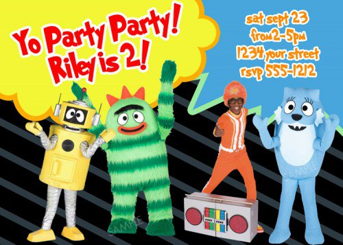 Yo Gabba Gabba Printable Invitations 2017