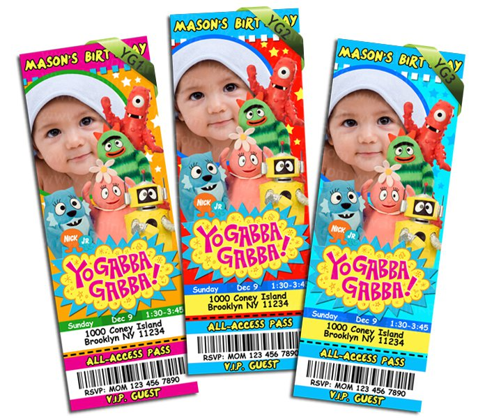 Yo Gabba Gabba Printable Invitations Free 2016