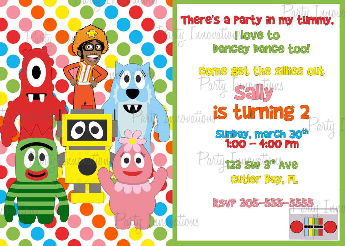 Yo Gabba Gabba Printable Invitations Free 2017