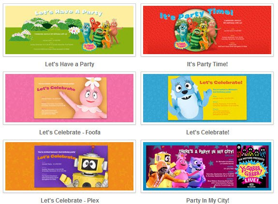gabba gabba printable invitations free, Birthday invitations