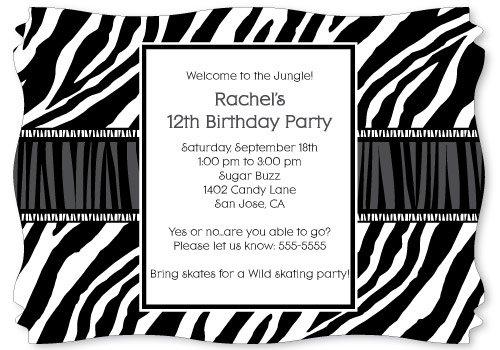 Zebra Print Party Invitations Printable Free