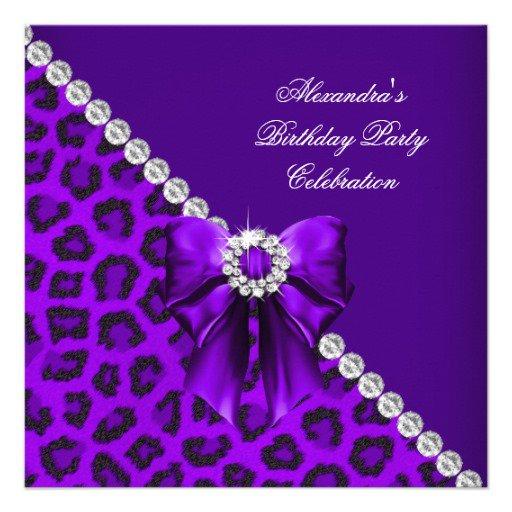 18th Birthday Invitations Elegant Diamonds