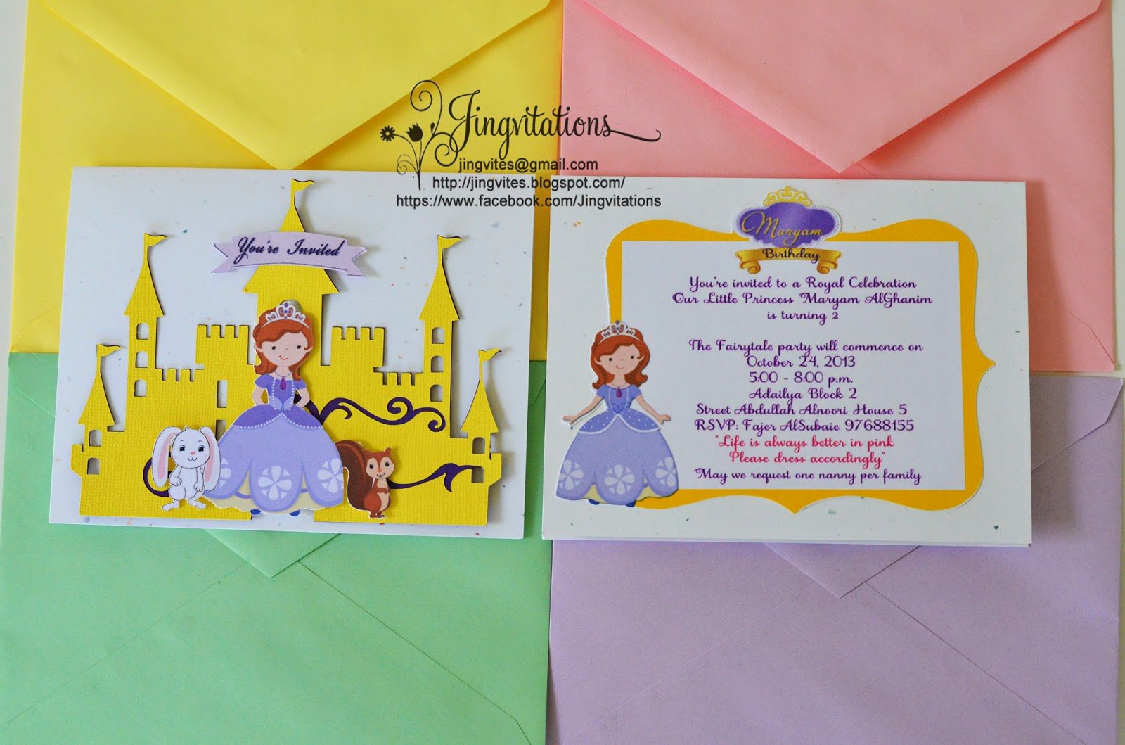 1st Birthday Princess Invitations