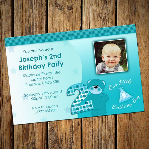 2nd Birthday Invitation For Baby Boy