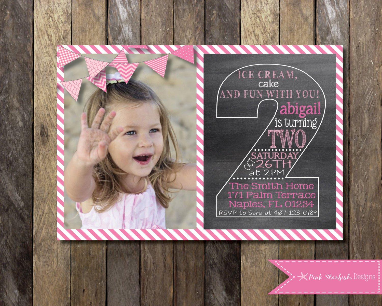 2nd Birthday Invitation For Baby Girl
