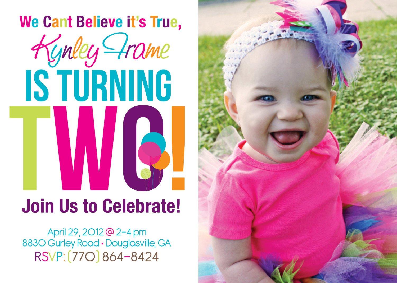 2nd Birthday Invitations For Girls