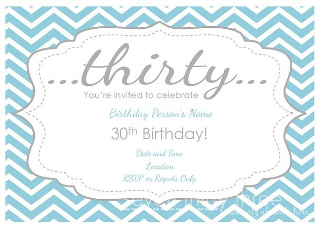 30th Birthday Party Invitations Free Printable