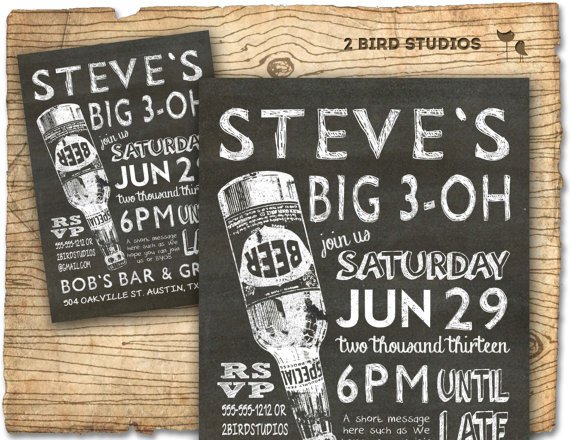 30th Birthday Party Invitations Printable