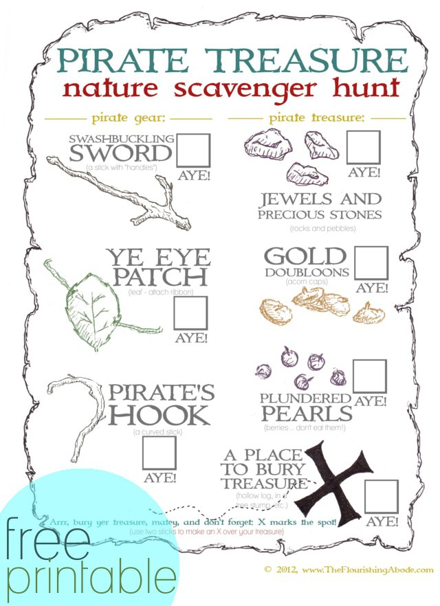 39;s Treasure Map Printable