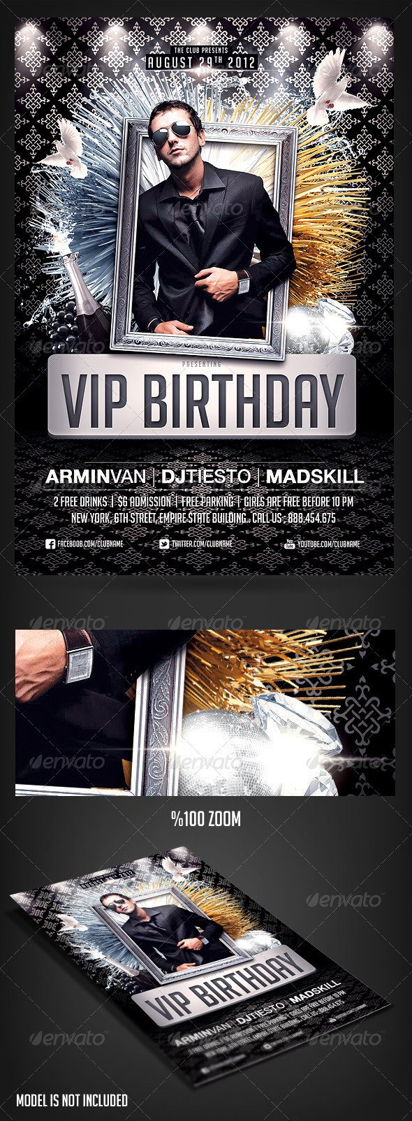 40th Birthday Flyer Invitation