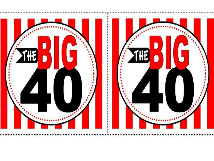 40th Birthday Free Printable Signs