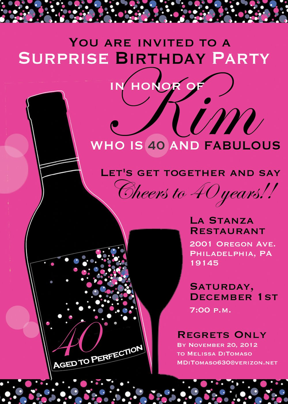 Birthday Invitations For Her