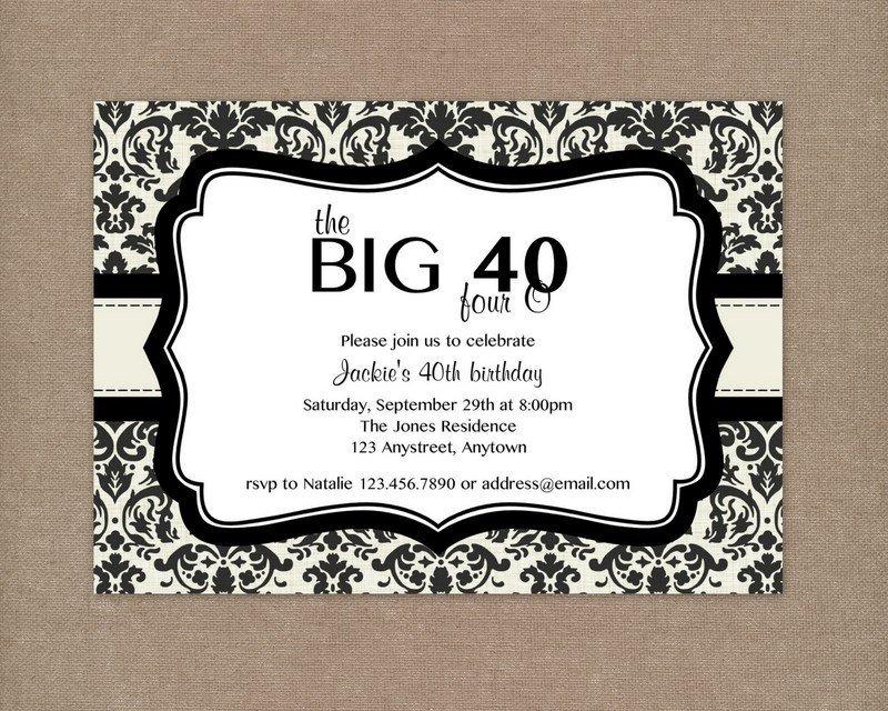 40th Birthday Party Invitations Printable Free