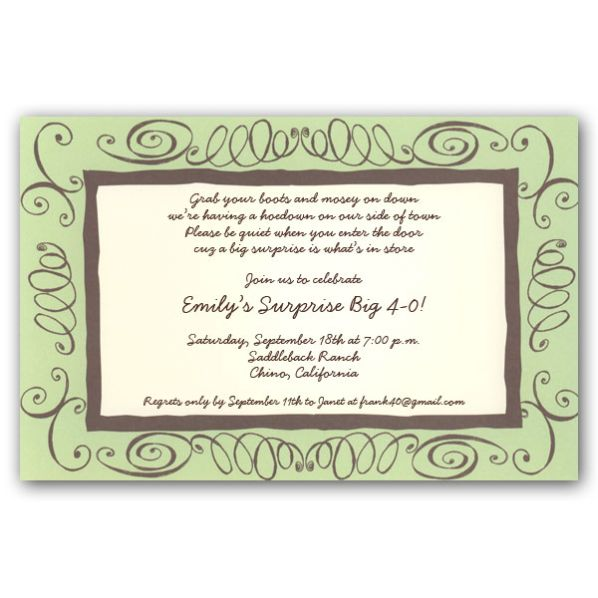 40th Birthday Wording For Invitations
