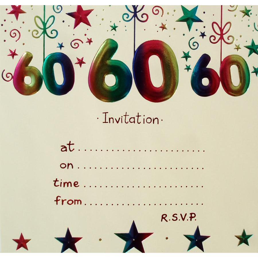 60 Birthday Card Invitations