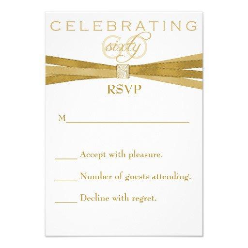 60th Birthday Card Invitations