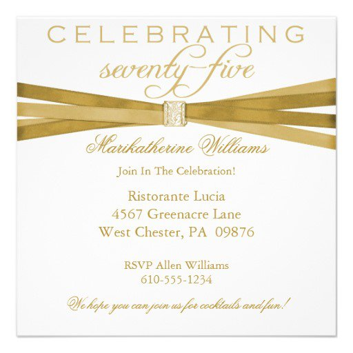 75th Birthday Invitations Free Printable