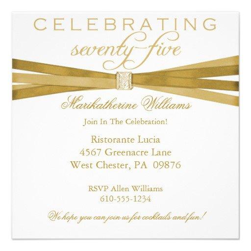 75th Birthday Invitations Free Printable