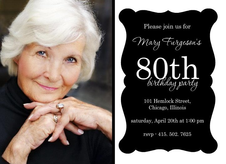 80th Birthday Invitations Free Printable