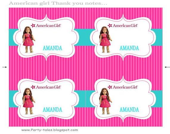 American Girl Birthday Party Printables