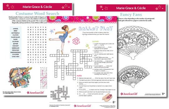 American Girl Doll Free Printables