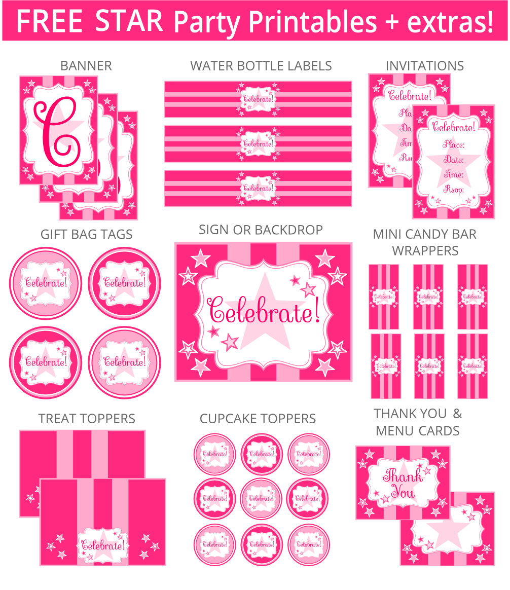 american girl party printables